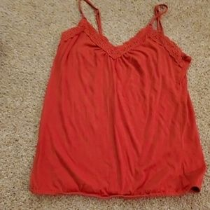 Old Navy red camisole.